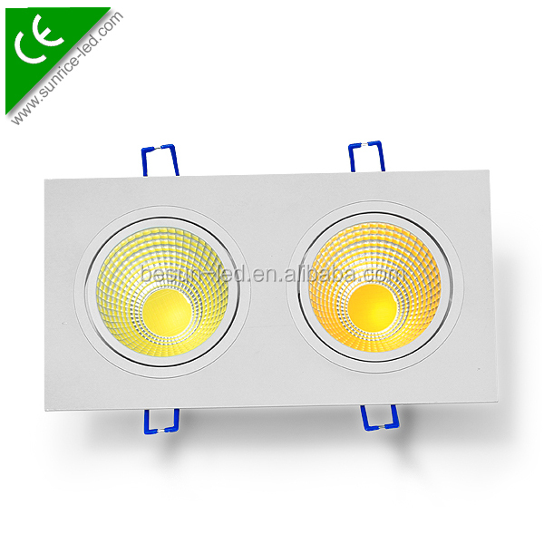 Dimmable Led Downlight Square Recessed 10w 2x10w 3x10w Led Ceiling Light