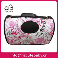 pink pet travel bag