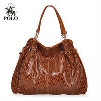 NEW HOT High Quality WEIDIPOLO brand Women Bag Snake skin Genuine Leather bag Women Handbag