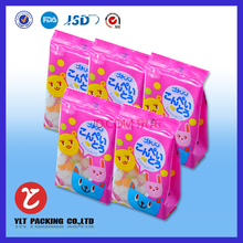 Cute animals shaped candy packaging plastic laminated bag,pouch with hang hole