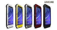 Love Mei Gorilla Glass Aluminum Waterproof Case For Sony Xperia T2 Ultra,Metal Aluminum Cover Case For Sony Xperia T2 Ultra