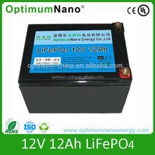 lithium battery 12v 12ah li ion battery lifepo4