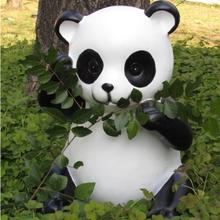 Decoración parque realista panda grande figura de la resina fantasy figuras
