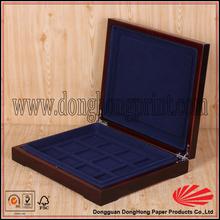 High Grade velvet lined jewelry wooden box for pendant display