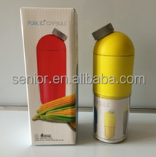 Corn capsule bottle Creative plastic bottle Portable water bottle
