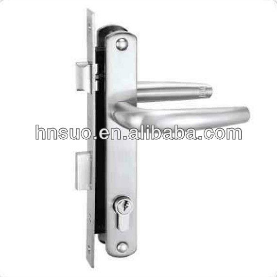 durable aluminium poign e mortaise serrure de porte avec deux loquet autres accessoires de. Black Bedroom Furniture Sets. Home Design Ideas
