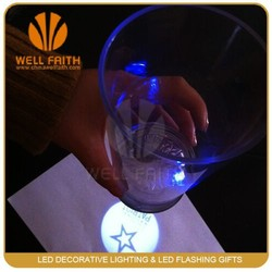 On sale OEM logo led projection cup led flashing glass from Alibaba verify exporter