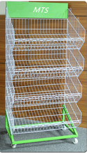 retail shop wire display stand,supermarket dry goods rack