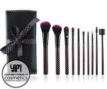 China brush manufacturer cosmetic brush 10pcs paint brush wood handle makeup brush set