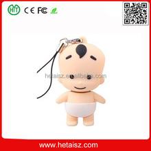 pvc baby shape usb imported usb stick, cute cartoon baby shape usb stick 512gb