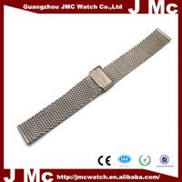 Stainless Steel Belt Buckle Design Wrist Watch Band Strap Straight End