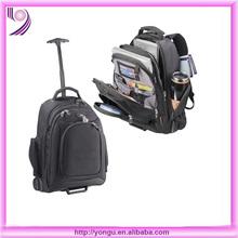 moda plegable del ordenador portátil mochila con ruedas