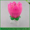 Flor de lotus decoração girando musical velas Nancy + 0086 15097479316