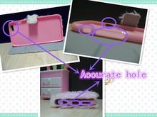 Beautiful Princess rose pattern Silicone Phone Case