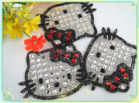 Hello Kitty Bling Crystal Iron on Patch Applique Wholesale