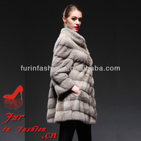 Sexy Women Long Pile Whole Mink Skin Fur Winter Wedding Coat With Good Prices