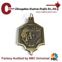 2016 New products Zhongshan factory custom antique bronze plated 3D design blank medal