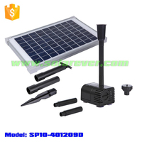 Electricity cost free 5.6ft head 161GPH flow rate dry run and locked rotor protected solar pump (SP10-401209D)