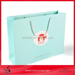 Sinicline factory design pretty paper bag with logo print and pp rope