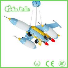 New plane model light children blue bedroom/room decorative chandelier chains modern chandelier in China