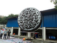 Attractive Custom Inflatable Products Giant Model Chocolate Cookie