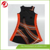 100% polyester custom netball uniforms netball wear