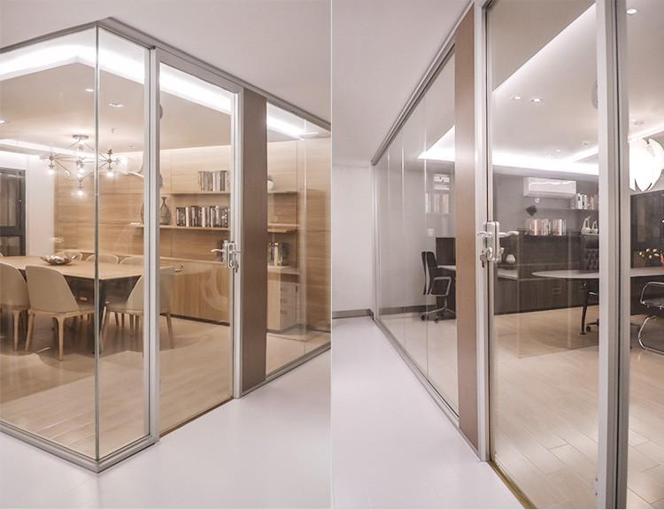 새로운 스타일의 융합 유리 거실 유리 파티션 디자인-사무실 ...
