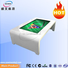 Beautiful white color 46inch infrared multi touch lcd all in one interactive table for bar and kids
