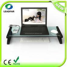 Convenient practical detachable desktop computer shelf