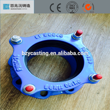 EN545 ISO9001 standard blue epoxy resin coated ductile iron flange adapter for drain water system