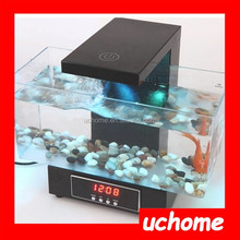 UCHOME Acrylic mini fish tank aquarium tank with USB and lighting