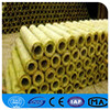 Rock wool pipe with fireproof FSK covering cutting in the middle