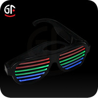Electronic Gift Items New Products 2016 Fashionable Cool Flashing and Sound Activated Kids Sunglasses Wholesale
