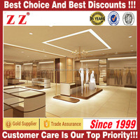 2015 Hot Style Shop Counter Lady Garment Shop Interior Modern Showcase Design For Garment Store For Commercial Furniture