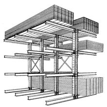 Nanjing Hot Sale CE Certified Cantilever Rack for Long&Bulky Storage