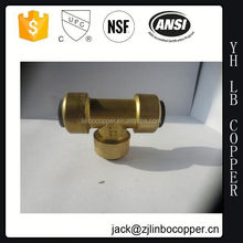 with brass fittings double socket with flange branch tee
