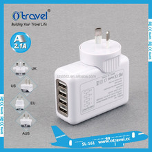 4 port usb charger universal usb wall charger ac mobile phone charger for home travel