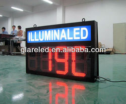 LED Time and temperature sign digital display