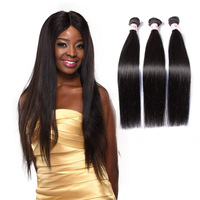 12 14 16 Inch Tangle Free Straight Virgin Hair Weft Factory Price Hair Weave 3 Pcs/lot