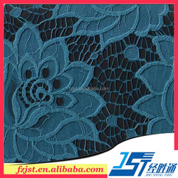 Pretty floral hollow out cord lace fabric for ladies dress