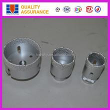 Brazed diamond wet/dry core drill bit for marble, ceramic, porcelain