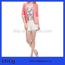 diseño de moda de color rosa delgado traje de las damas