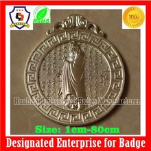 Confucius metal plate, custom Confucius badges,Chinoiserie products (HH-badge-742)