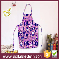 The most popular animal printed apron washable plastic kitchen apron