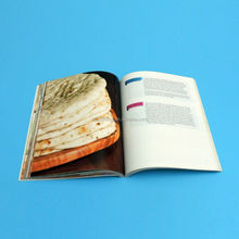 Printing high quality cheap coloring food magazine with 157gsm art paper