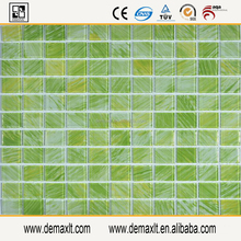 Green Glass Mosaic Tiles for Bathroom Floor Tile/Kitchen Wall Tiles/Decor