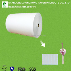 PE coated paper for wooden ice cream spoon packing