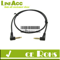 Linkacc-8W Right angled 3.5MM AUX L JACK MALE AUDIO STEREO CABLE CORD 1.5M