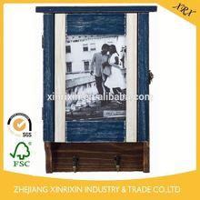 moldura de madeira feita na china decorativa bronze prateleira de madeira com gancho fsc moldura