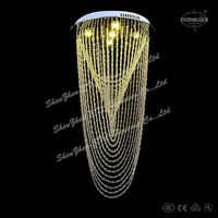 2014 novel modern spiral crystal Chandelier lighting for France ETL82122
